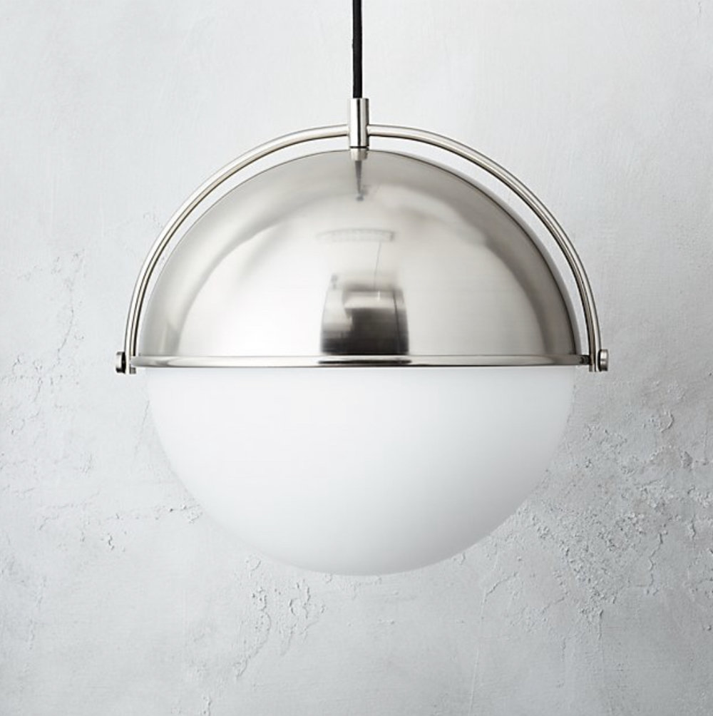 CB2 Large Hanging Globe Light