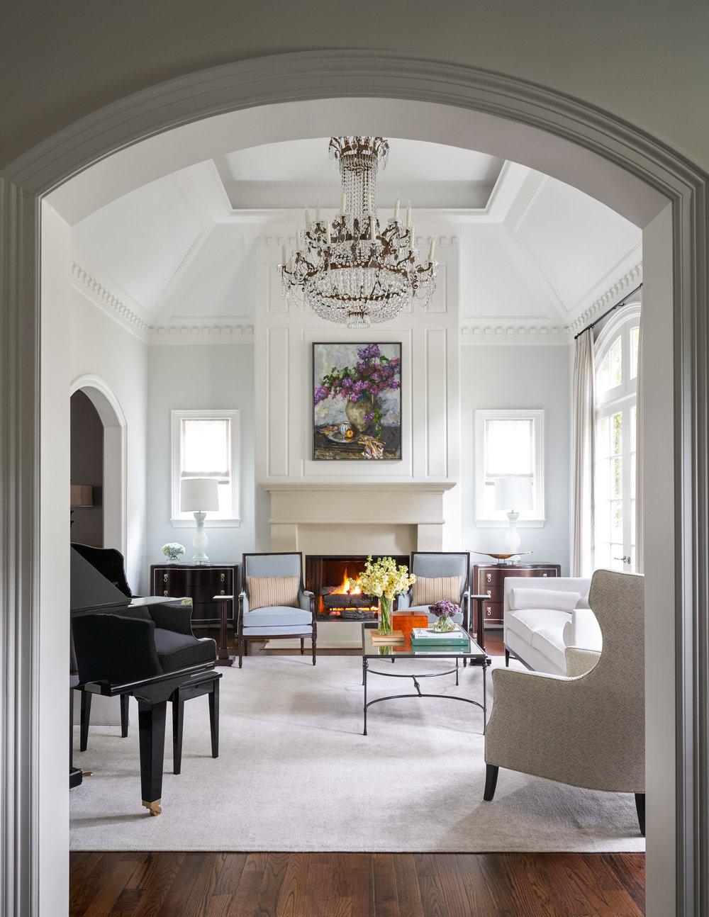 Living room designed by Beth Lindsey Interior Design.