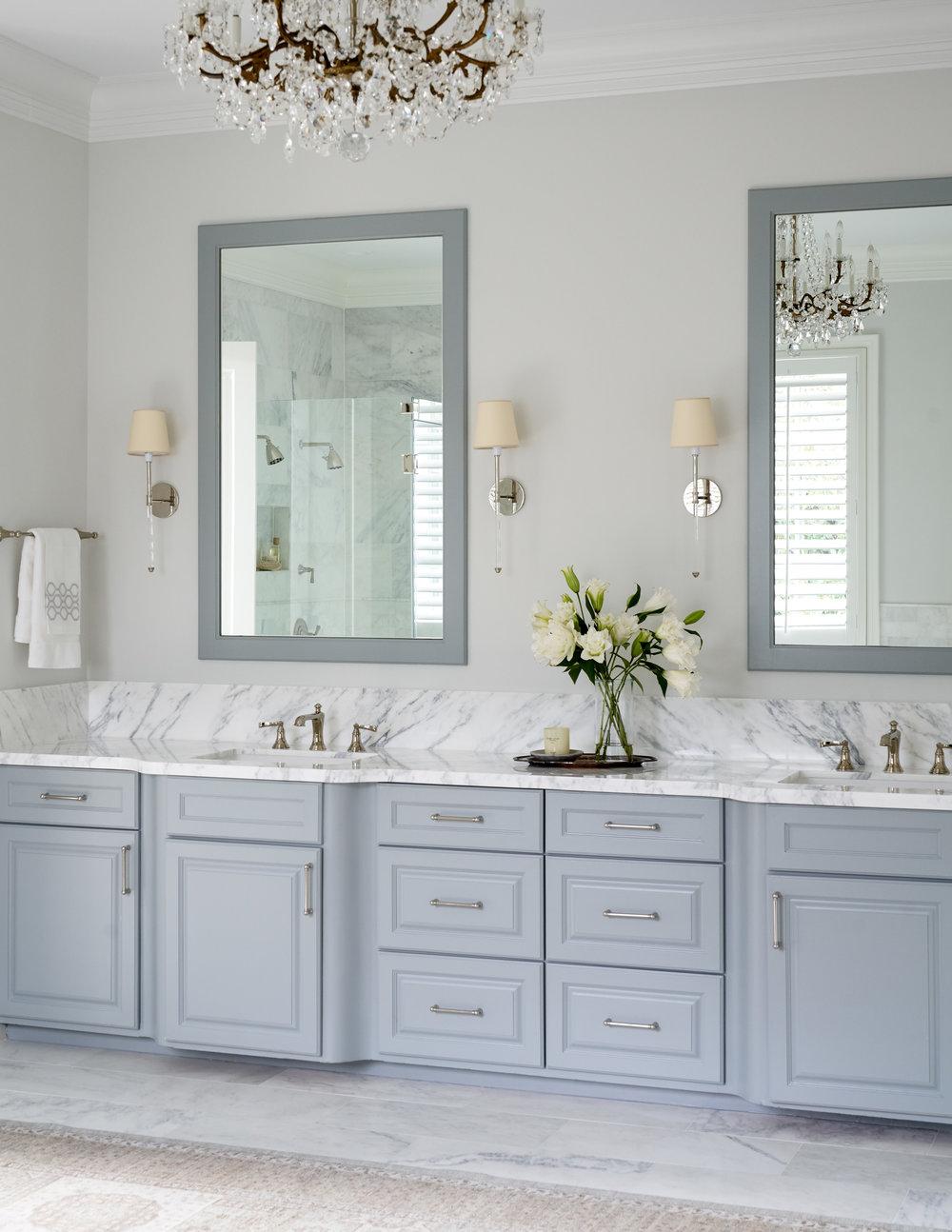 Bathroom design by Beth Lindsey Interior Design.