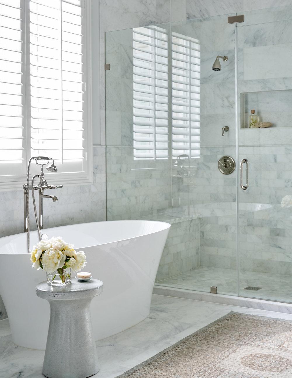 Bathroom designed by Beth Lindsey Interior Design.