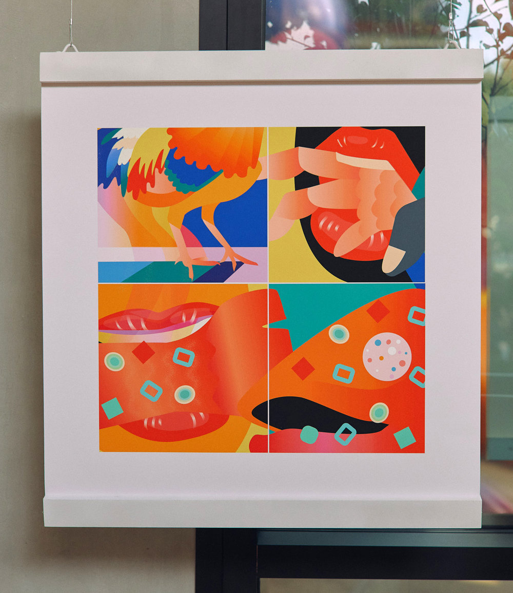 "Appetizers, 30""x30"", Fine Art Print"