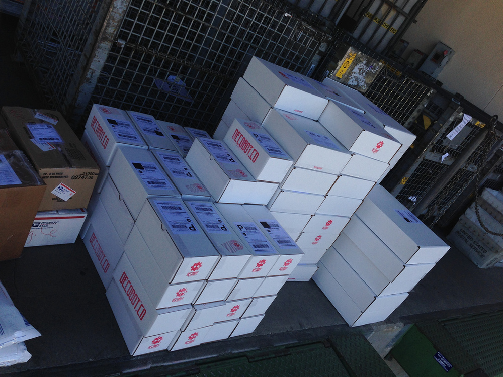 This is just one of many shipments that went out into the world over the duration of fulfillment.