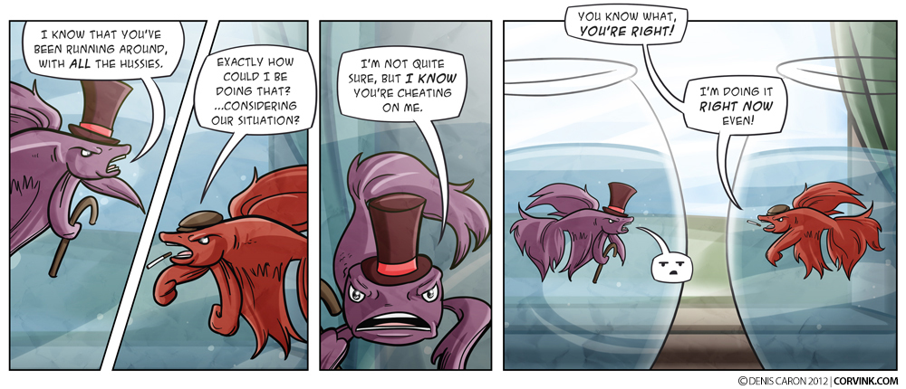 My ex-girlfriend was exactly like the purple fish. That's why we are exes.