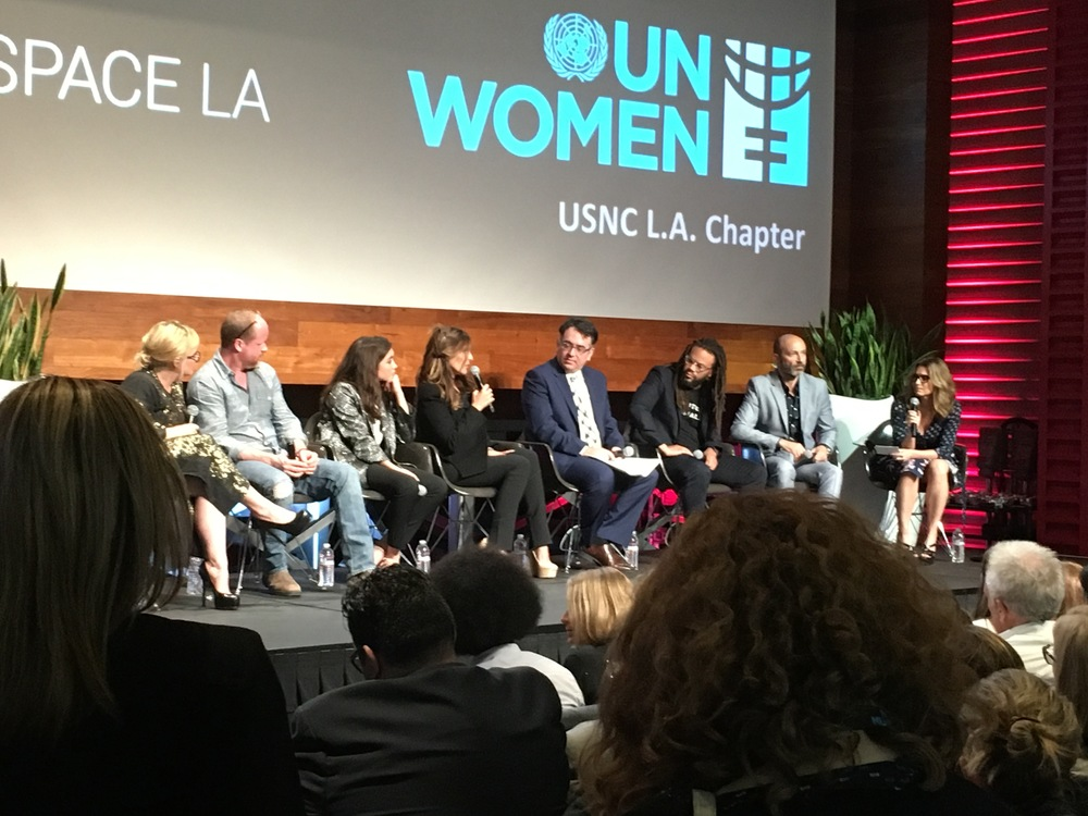 Patricia Arquette, Joss Whedon and other at Un Women USNC LA Chapter Panel.