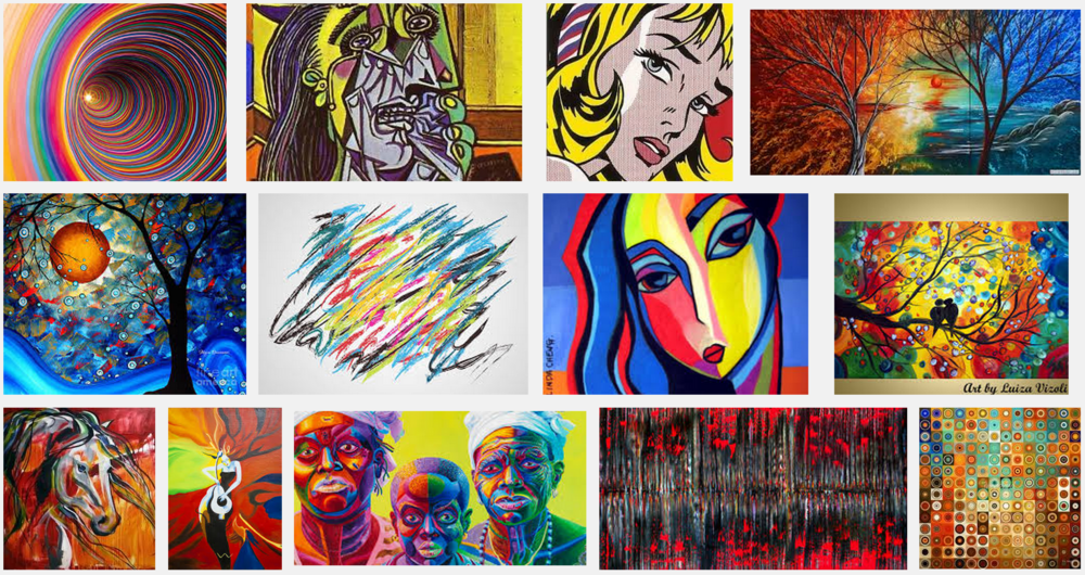 "A sample screenshot from the Google Image search ""Modern Art"""