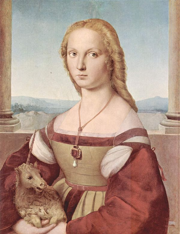 Young Woman with a Unicorn, Raphael, 1506