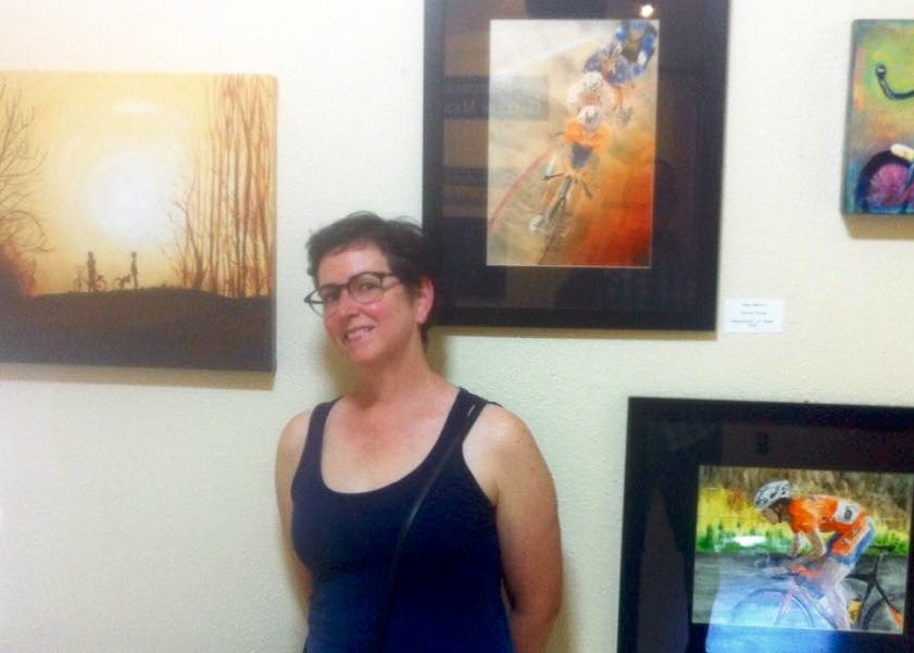 The artist at a show that included some of her work at Gallery 360 in Vancouver, Washington.