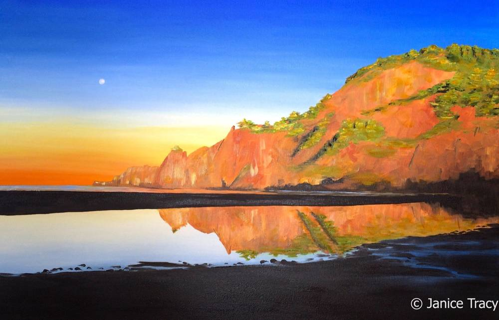 "Agate Beach Morning, oil on canvas, 36"" x 24"""