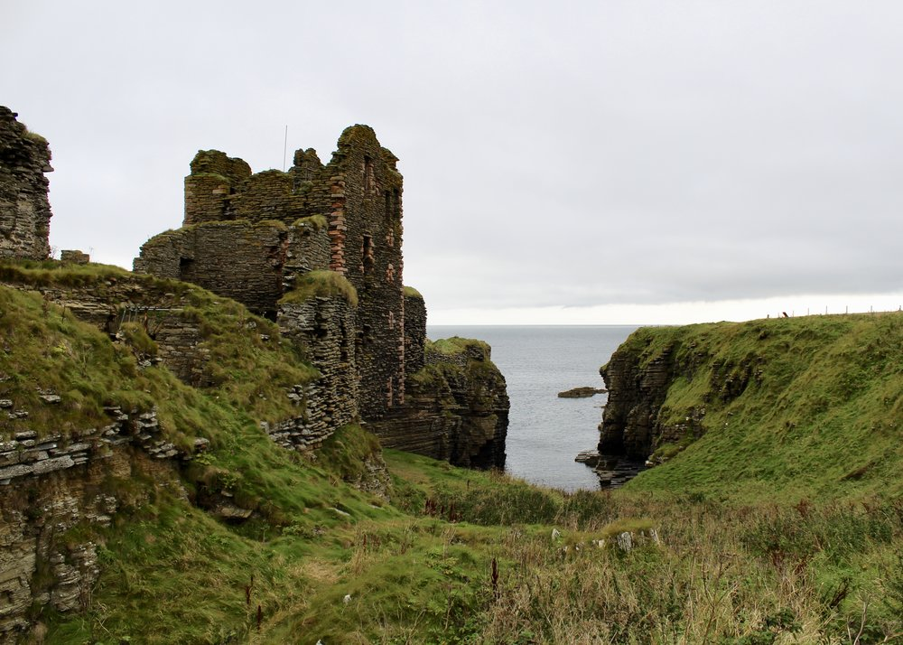 Girnigoe and Sinclair Castle, Wick, Scotland