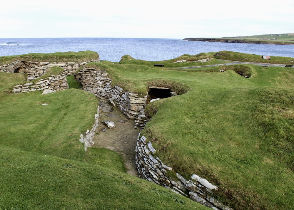 You can see that the entire village was connected by little passageways because even though Orkney was warmer than it is now, the winter nights were long and cold.
