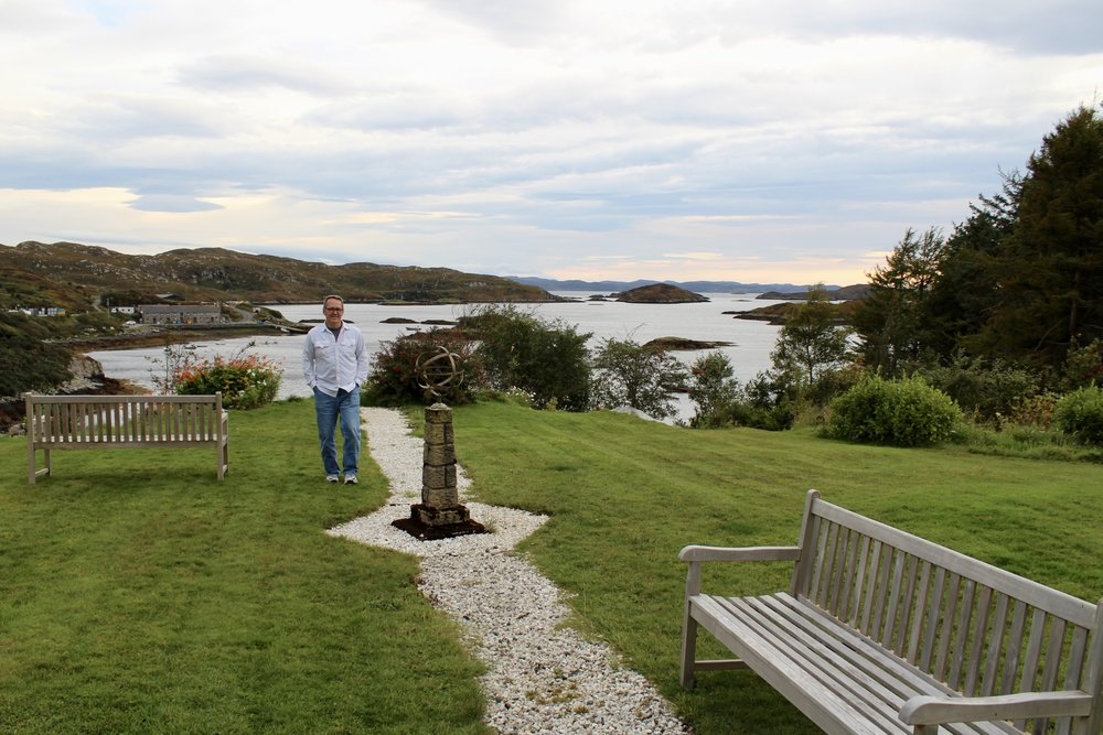 The grounds of the Eddrachilles Hotel in Badcall Bay outside Scourie, Scotland