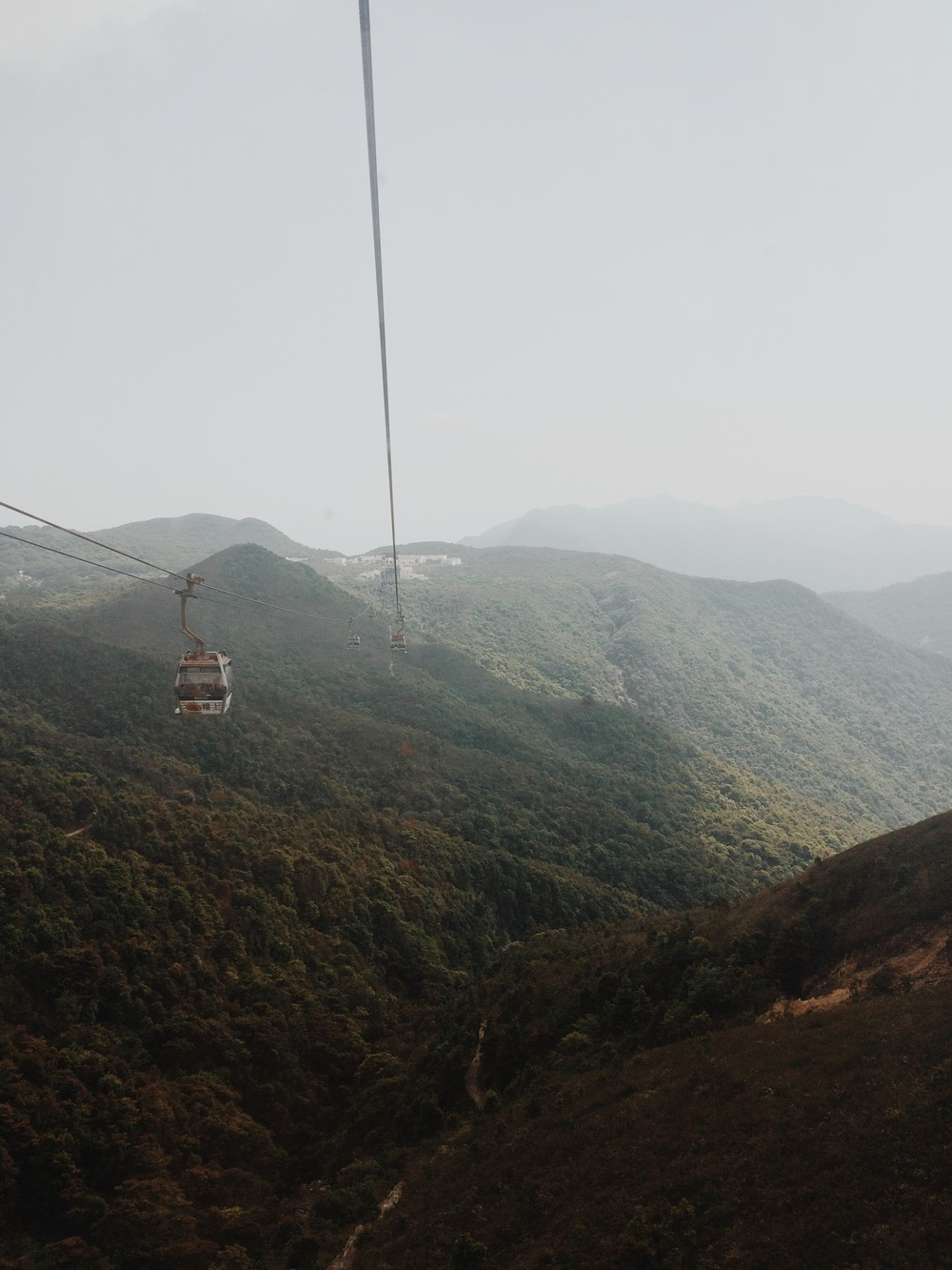 The cable car to the Tian Tan Buddha.  ©Ariel Davis