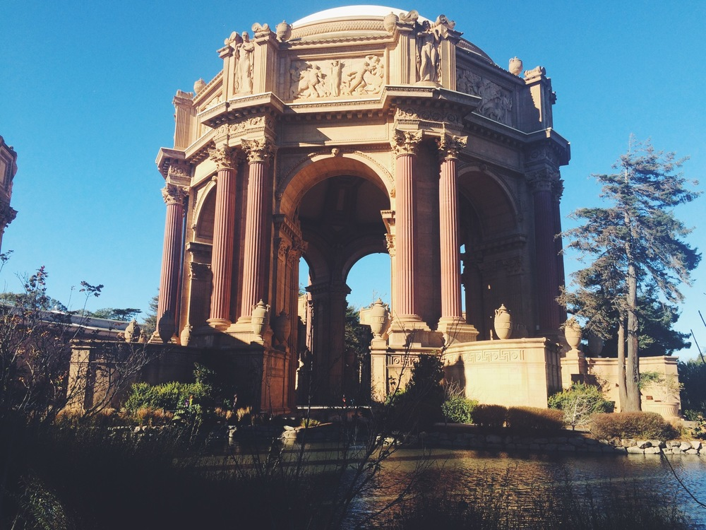 The Palace of Fine Arts.