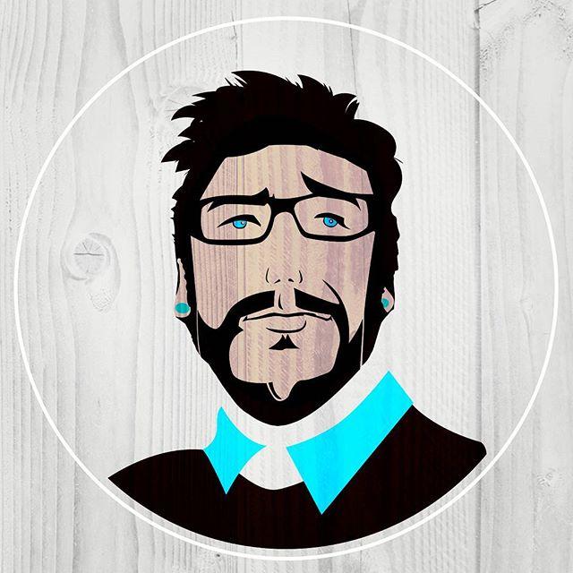New avatar with new haircut. .. .. #graphicdesign #illustration #branding #avatar #wood #artdirector #logo #design