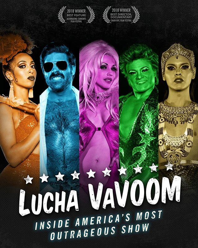 Wow!!! My #keyart was the finish for @luchavavoomfilm (and now on impawards.com!) In the detail shots, you can see I created a custom #halftone screen for the characters to tie the style all together. This documentary showcases the outrageous live show @luchavavoom, which is equal parts comedy, violence, and sexiness. I believe I captured that, and am honored to have worked in it. The crew behind the doc has even won a couple film awards. Congratulations y'all! ... #graphicdesign #artdirector #movieposter #documentary