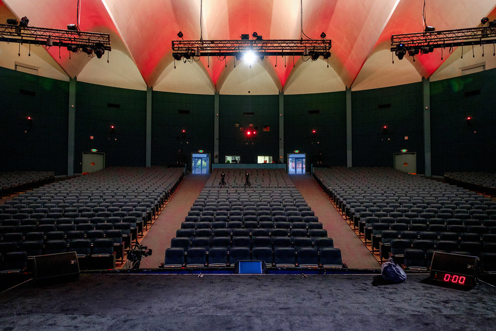 The auditorium at Costa Mesa High School (TEDxMB 2016)
