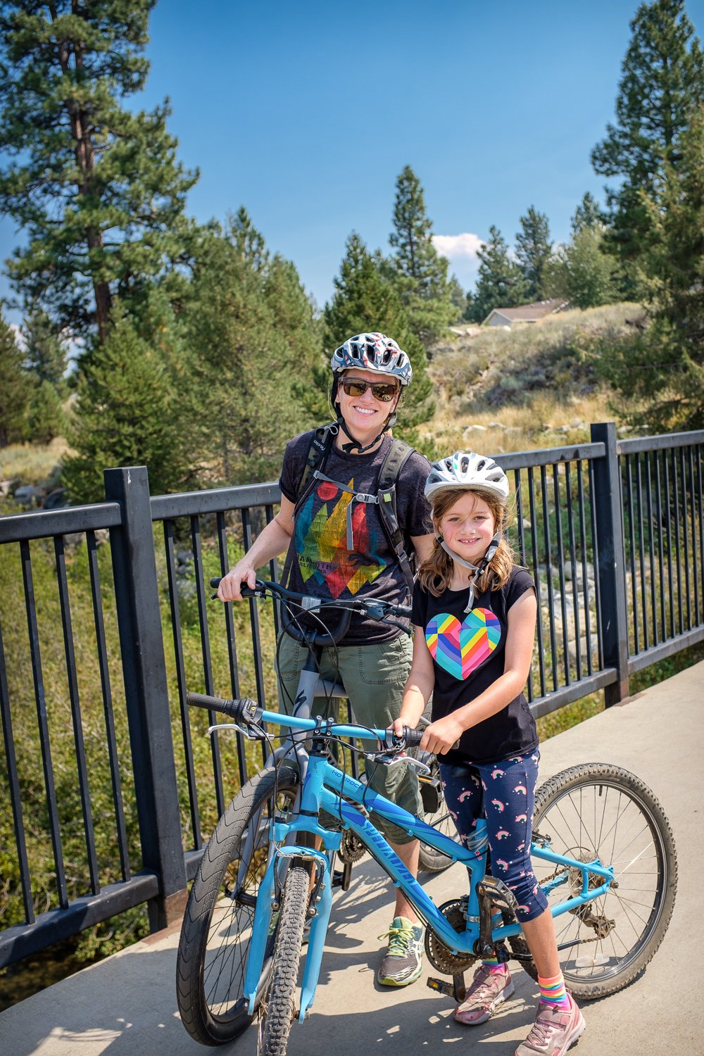 Carlie and Quinn riding near Truckee.