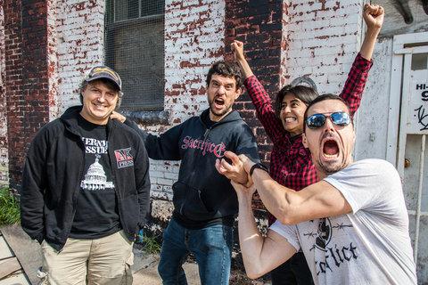 L-R: drummer Jord Samolesky, bassist Todd Kowalski, lead guitarist Sulynn Hago, & lead vocals/guitarist Chris Hannah
