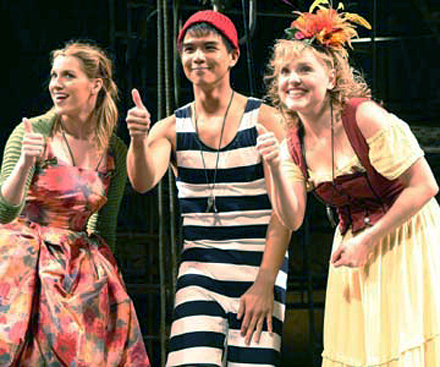 With Julie Reiber and Telly Leung in   Godspell  at Papermill Playhouse