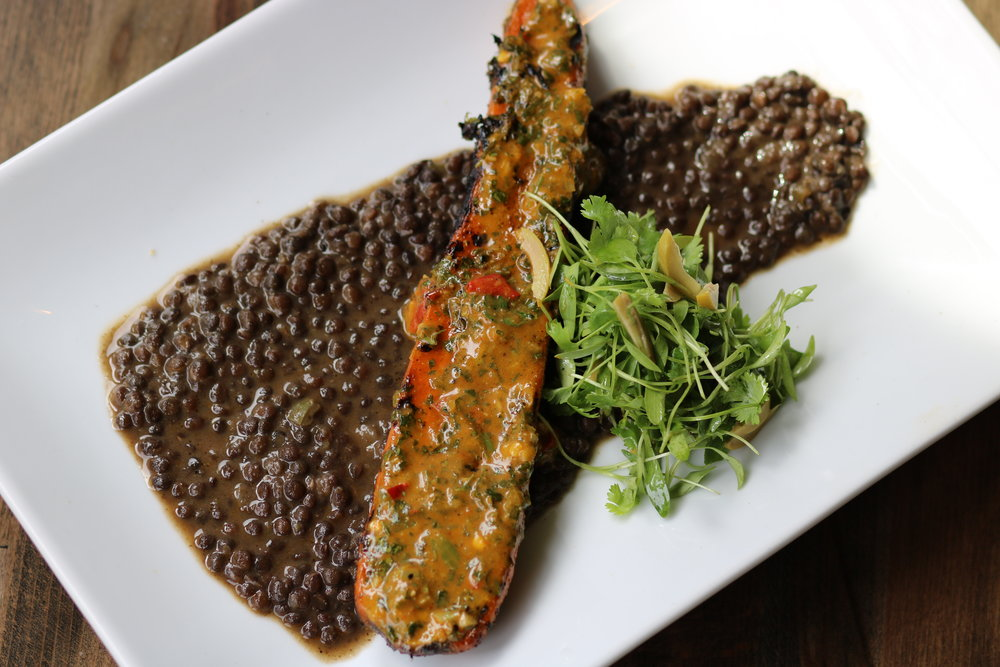 Carrot with black lentils. Photo by Fancy Radish