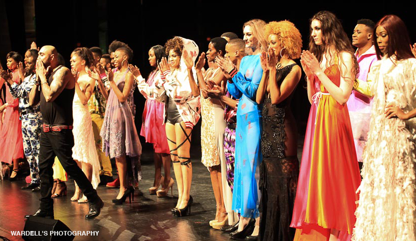 Adrian Alicea presented his collection at the Art of Fashion Runway Show.