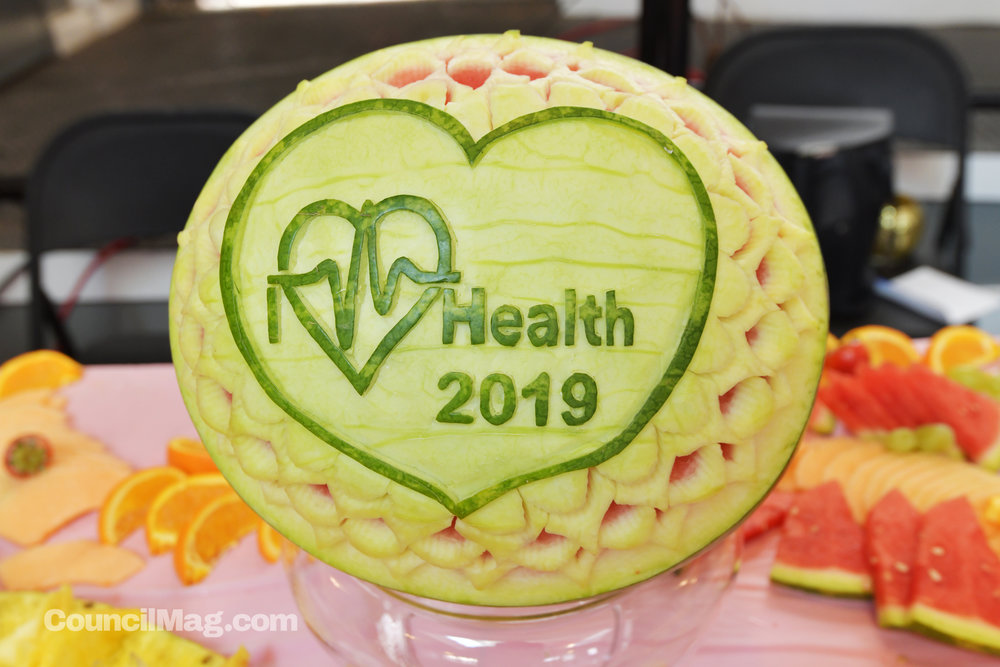 Vendors at the expo at the end of March included carved fruit from  Fruits' Art and Passion .