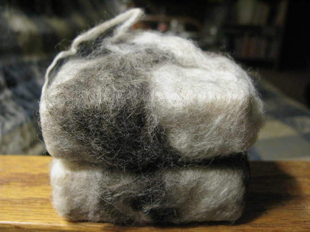 Shabbily felted soaps. They will look nice in the shower.
