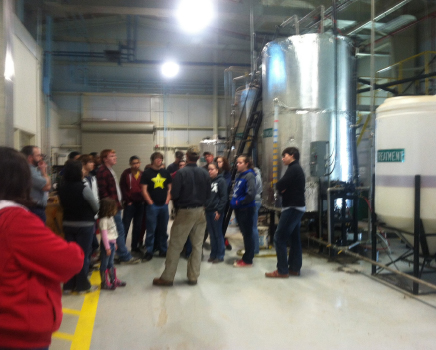 The Biofuels 1 class (first semester) visits the Catawba EcoComplex to see full scale production from beginning to end (plants to diesel) in a commercial environment Catawba EcoComplex