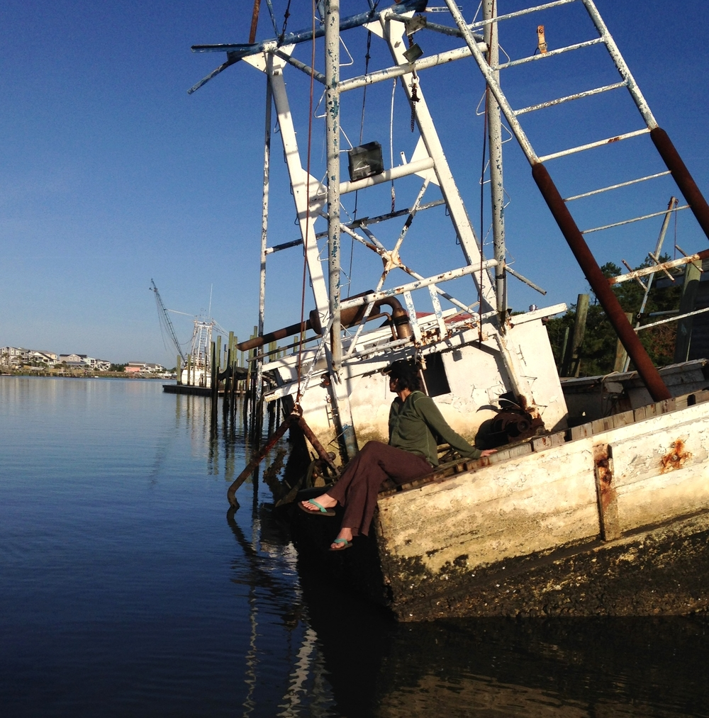 Once a working trawler named Southern Lady,  this ship is considered by some as an attraction and by others as an eyesore as boaters migrate back and forth in the Intracoastal Waterway  or motorists traverse the Holden Beach bridge.