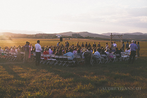 we hosted a wedding on our property!