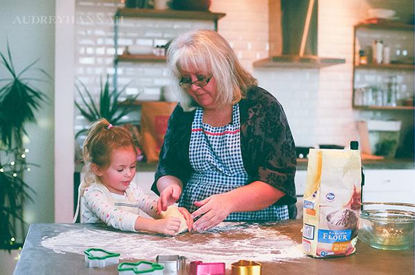 Christmas cookies with Nana