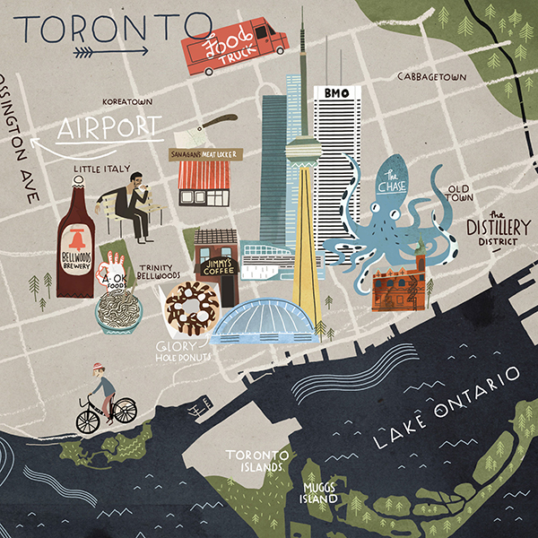 Toronto Map by Steve McCarthy