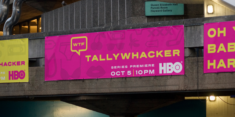 ADVERTISING  HBO / Tallywhacker  HBO sought OOH (out-of-home) proposals for their latest fall premiere of Judd Apatow's latest antics with animation. All placements needed to wink at the highly adult nature of the animated adult series.