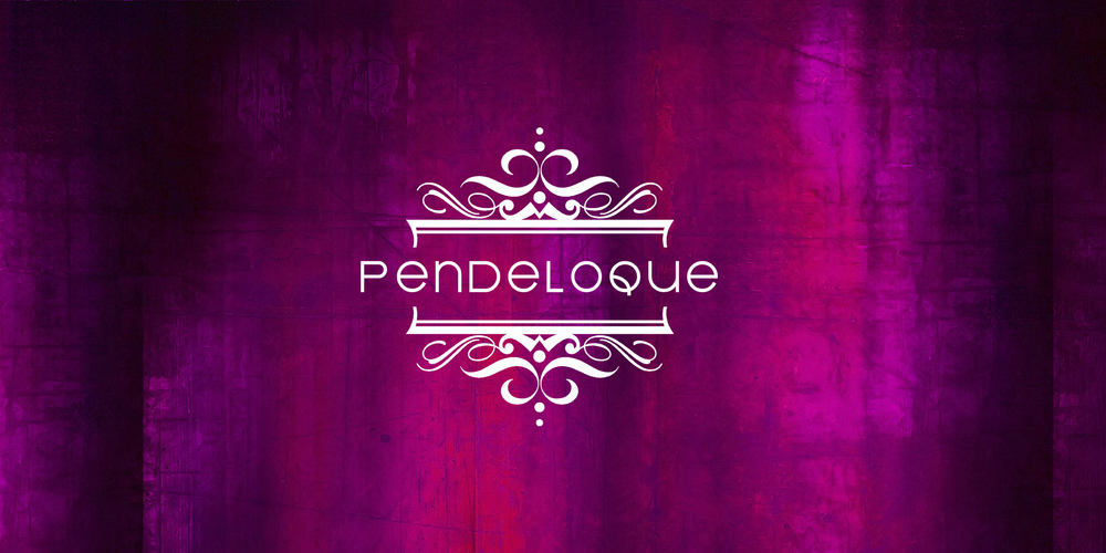 IDENTITY  Pendeloque  As collectors of high art and estate antiques, this company needed a logo that conveyed elegance while at the same time, contemporary touches. This was achieved by contrasting a classic filigree ornament with modern clean typography.