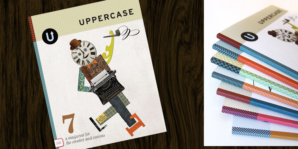 ILLUSTRATION  Uppercase Magazine  This illustration was created for the whimsical and design-centric magazine's cover. Various topics within the articles drove the visual elements that all collided in a sophisticated yet fun collage of figure dancing and smoking a pipe. Uppercase is a creative dynamo for creatives and craftsman in today's do yourself culture.