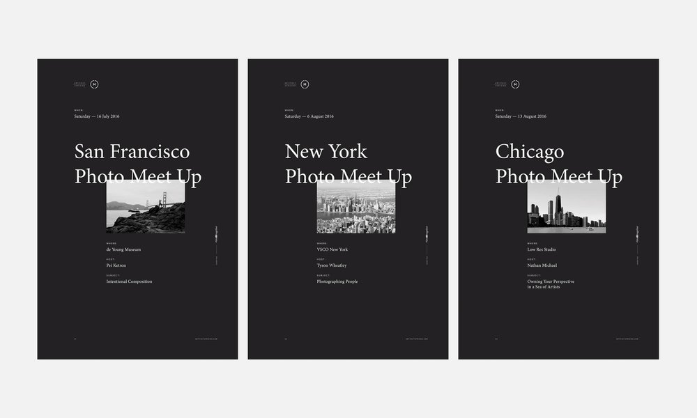 Photo Meet-Up Poster Series