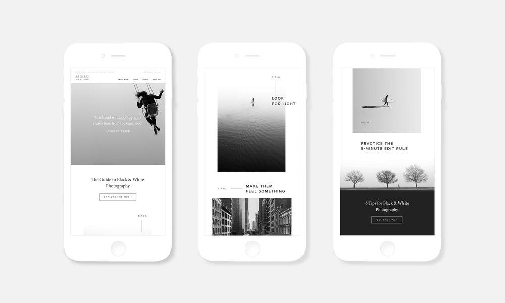 Email Marketing — Black & White Photography Tips