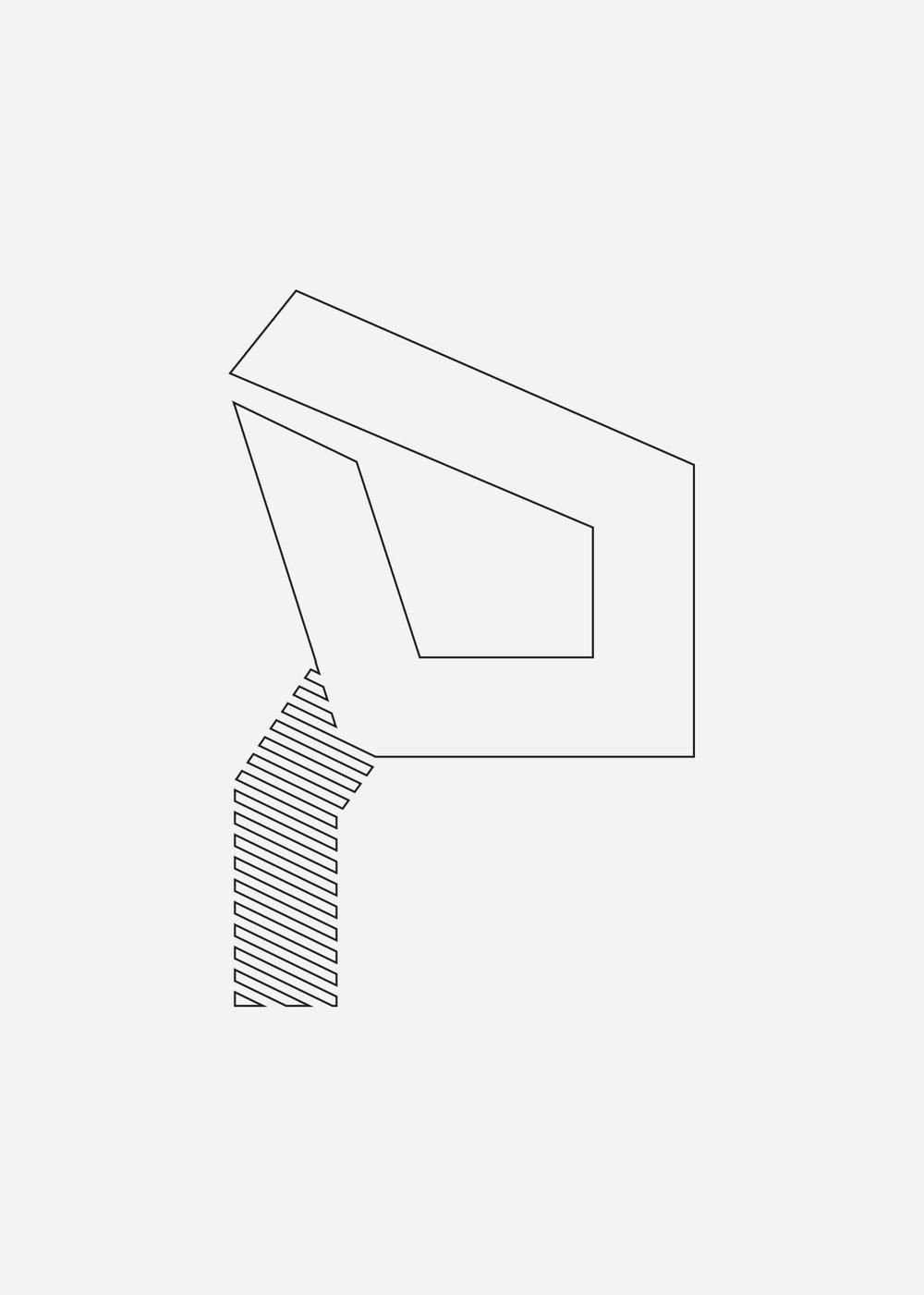 Detail 02 — Letter P (Second floor overhang)