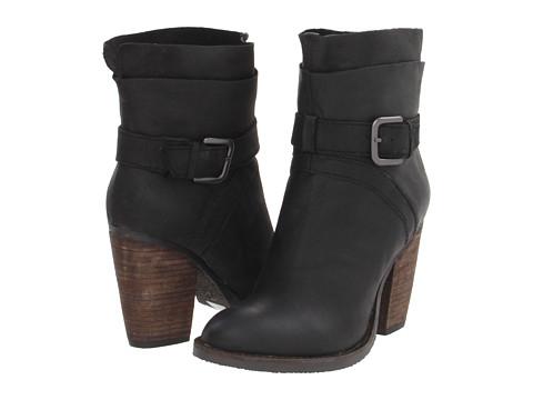 Riskey Black Leat Boots, Steven by Steven Madden