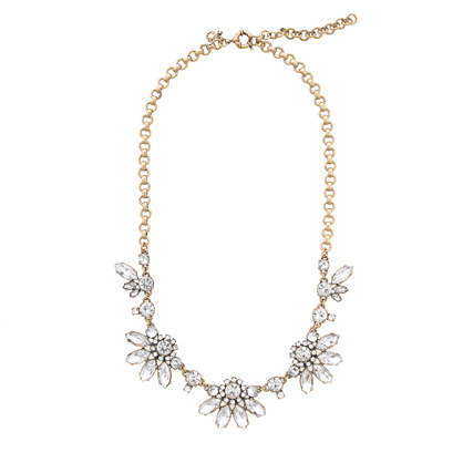J Crew Translucent Flower Necklace