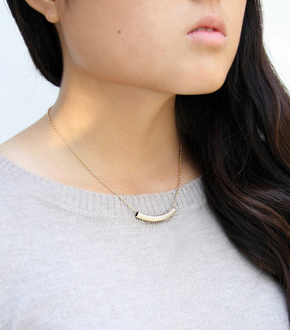 The Simplicity Necklace by Olliebug Jewelry Design