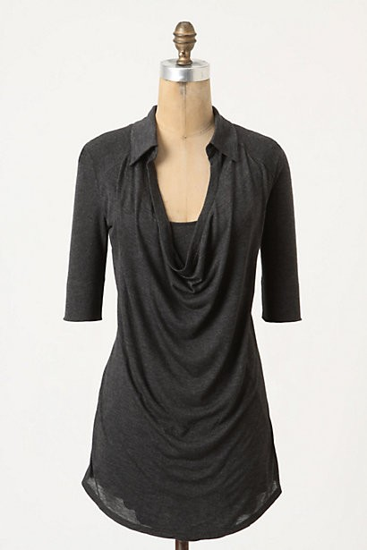 Collared Cowlneck Top by Bordeaux from Anthropologie