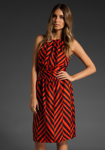 Chevron Chain Halter Dress, Milly of New York