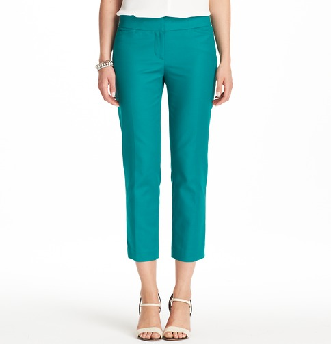 Marissa Cropped Pants in Doubleweave Cotton