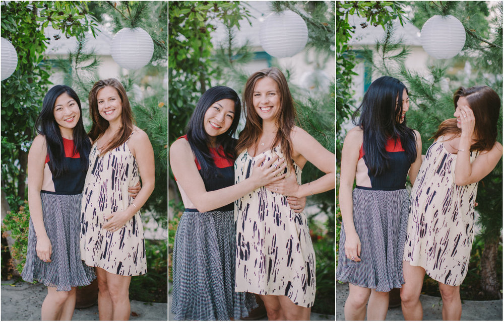 Alessandra (left) and I goofing around at the baby shower