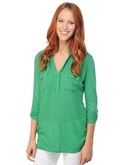Splendid 3/4 Length Sleeve Shirting Blouse