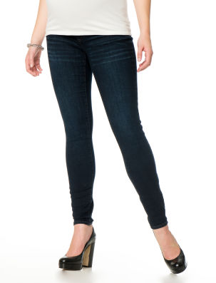 A Pea in the Pod Dark Wash Skinny Jeans with Secret Fit Belly