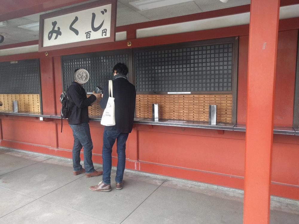 Omikuji at Sensō-ji