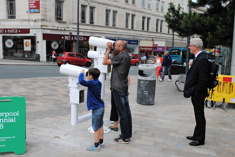 Views of the installation at Derby Square, Liverpool