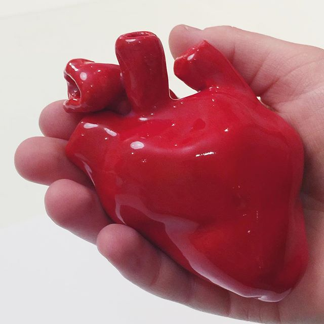 That time child artist Lucy made a heart sculpture #followtheirlead #childartist #heart
